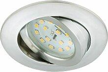 Briloner LED Einbauleuchte Attach Aluminium