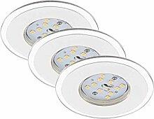 Briloner Leuchten 7197-036 LED Einbauleuchte 3er