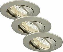 Briloner Leuchten 7209-032 LED Einbauleuchten 3er