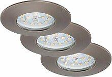 Briloner Leuchten 7231-031 LED Einbauleuchten 3-er