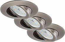 Briloner Leuchten 7232-031 LED Einbauleuchte 3er