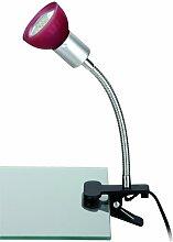 Briloner Leuchten Klemmspot LED-Klemmleuchte, 1 x GU10, titanfarbig / rot 2989-012P