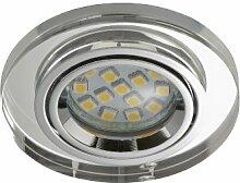 Briloner Leuchten LED Ein-/ Aufbauleuchte 1x GU10, 3W, direkter Anschluss, kein Trafo notwendig, Acryl klar, 7201-010