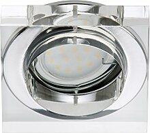 Briloner Leuchten LED Ein-/ Aufbauleuchte 1x GU10, 3W, direkter Anschluss, kein Trafo notwendig, Acryl klar, 7200-010