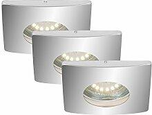 Briloner Leuchten LED Einbauleuchte, GU10, 4 W,