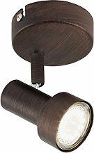 Briloner Leuchten - LED Wandleuchte mit dreh- &