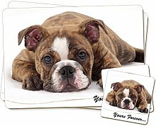 Brindle Bulldog ' Yours Forever' Zwillings