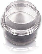 BRINOX b90230h–Türstopper Polymethylmethacrylat Zylindrische. Gummi Transparent, 3,3x 3,2x 3,2cm, transparen
