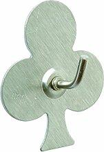 BRINOX Kleiderbügel mit Design Poker und Kleeblatt, siehe Beschreibung, grau, 5.2x 4.4x 2.1cm