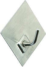 BRINOX Kleiderbügel mit Design Poker und Rauten, siehe Beschreibung, grau, 5.2x 4.4x 2.1cm