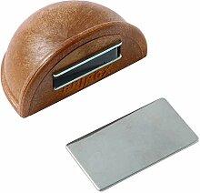 BRINOX Türstopper Halter mit Magnet 4.8x3.3x2.5 cm holz