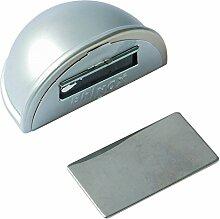 Brinox Türstopper, klebend, mit Magnet, 7826, matt verchrom