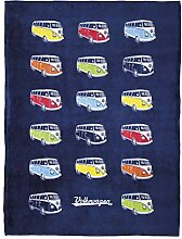 Brisa VW Collection VW T1 Bulli Bus Fleecedecke