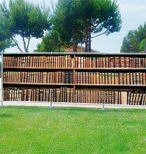 Brise Vue Déco bedruckt: Bibliothek, 100%, 340x132cm