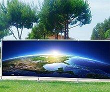Brise Vue Déco bedruckt: Planeten, 100%, 300x117cm