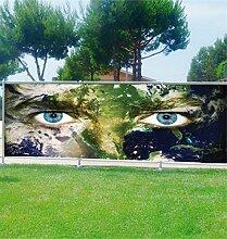 Brise Vue Déco bedruckt: Planeten Augen, 100%, 340x132cm