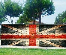 Brise Vue Déco bedruckt: Union Jack, 100%, 250x97cm