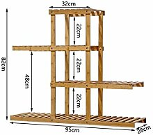 Brisk-Blumenregale- Landung Mehrere Schichten Bambus Massivholz Sukkulenten Pflanzen Blumentopf Rack Für Balkon Wohnzimmer Indoor Und Outdoor --Home Umwelt Dekorationen ( größe : 4 )