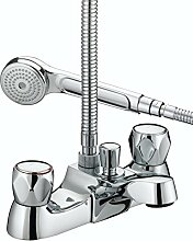 Bristan VAC LBSM C MT verchromtem Club Luxus Bad Dusche Mixer mit Metall Köpfe
