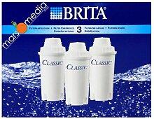 Brita 100474 Classic Filterkartuschen 3 Stück Plastik 6.4 x 18.2 x 13.9 cm, Weiß