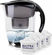 BRITA Elemaris XL 3,5L Wasserfilter schwarz inkl. 4x Maxtra Kartusche