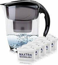 BRITA Elemaris XL 3,5L Wasserfilter schwarz inkl. 5x Maxtra Kartusche
