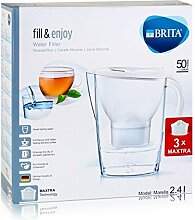 BRITA Wasserfilter Marella Cool weiß inklusive 3