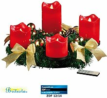 Britesta Adventsgesteck: Adventskranz, golden, 4