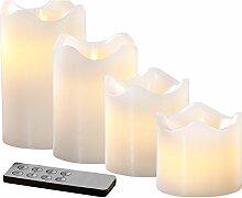 Britesta LED Kerze: 4 Echtwachskerzen mit