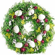 Britesta Osterdeko: Osterkranz mit Ostereiern und roten Früchten, Ø 34 cm (Osterdeko Kranz)