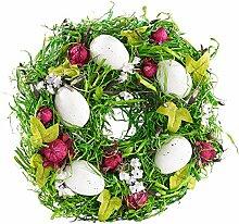 Britesta Osterdekoration Kranz: Osterkranz mit Ostereiern und roten Früchten, Ø 23 cm (Tischdeko Kränze)