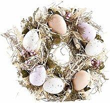 Britesta Türkranz Ostern: Osterkranz mit pastellfarbenen Ostereiern, Ø 23 cm (Frühlingskranz)