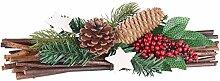 Britesta Weihnachtsgesteck: Handgefertigtes Weihnachts- & Adventsgesteck, echte Tannenzapfen, 30cm (Gestecke für Frohe Weihnachten)