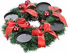 Britesta Weihnachtskranz: Adventskranz mit rotem