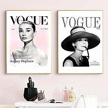 Britische Göttin Audrey Hepburn Leinwanddrucke
