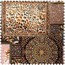 Britisches Design bedruckt Samt braun Farbe Elegante Patchwork Muster Polsterung ideal für Möbel Einrichtung Sofas Vorhänge Kissen Stoffe einsetzbar