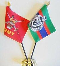British Army und Royal Irish Regiment (1992) Freundschaft Tisch Flagge Display 25cm (25,4cm)