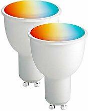BrizLabs GU10 LED Smart WiFi Lampe, 2 Pack 4,5W