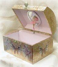 Broadway Ballerina Musik Schmuck Box–Silber