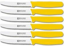 Brötchenmesser 11cm 6er Set (Gelb)