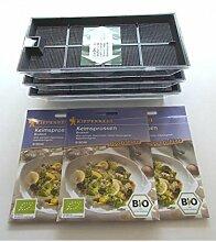Brokkoli-Anzucht-Set mit Bio-Brokkoli-Keimsprossen-Saatgut & Anzuchtbeschreibung