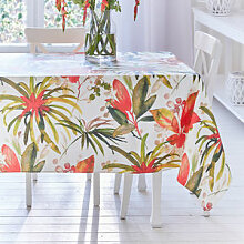 Bromelien-Tischdecke mit Abperleffekt