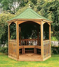 Brompton Gartenlaube mit Schindeldach (klein) Gartenhaus aus Holz günstig kaufen.