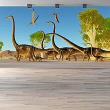 Brontosaurus Wandbild Dinosaurier Foto-Tapete Kinderzimmer Wohnkultur Erhältlich in 8 Größen Klein Digital