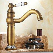 Bronze Antik Bamboo Design Wasserhahn kalt Warmes