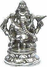 Bronze Figur versilbert Ganesha Elefantengott