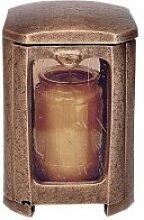 Bronze Grablicht als Grabschmuck / braun - Lauron