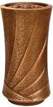 Bronze Grabvase zur Wandmontage / braun - Chavo
