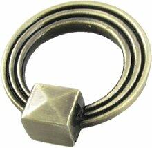 Bronze gravierter Ring Schublade Schrank Tür Pull Griff Knauf