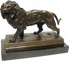 Bronze Löwe Gartenfigur online kaufen zur Dekoration Edle Löwenfigur als Tier